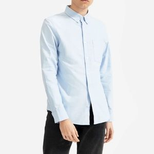 Everlane The Slim Fit Japanese Oxford Blue